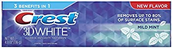 Crest 3D White 4.8 Ounce Mild Mint Whitening Toothpaste