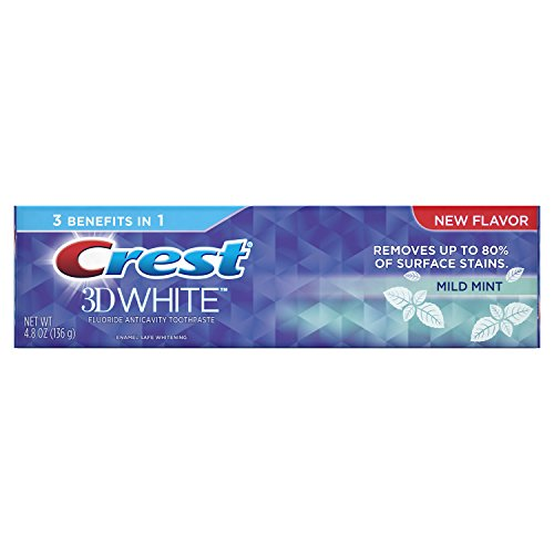 Crest 3D White Whitening Toothpaste, Mild Mint, 4.8 oz