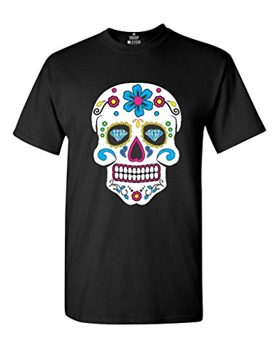 Shop4Ever® Sugar Skull Diamond Eyes T-shirt Day of the Dead Shirts XXXXX-Large Black ()