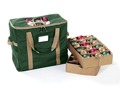 Covermates - 72PC Holiday Ornament Storage Bag - 3 Year Warranty - Green