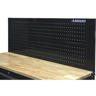 Husky D6TC09002 52'' Black Heavy-duty 21-gauge Steel Construction Easy to Assemble Tool Cabinet Pegboard