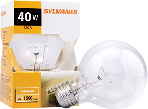 Sylvania Home Lighting 14283 Incandescnet Bulb 40W 2850K G25 Incandescent Medium Base (Incandescent Globe Sylvania)