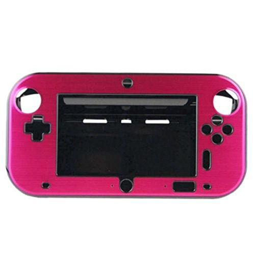 (TM) Anti-shock Hard Aluminum Metal Box Cover Case Shell for Nintendo Wii U Gamepad Remote Controller-Rose Red - XFUNY XFUNY