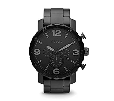 Fossil Men's Nate Blacktone Bracelet and Dial Watch from Fossil