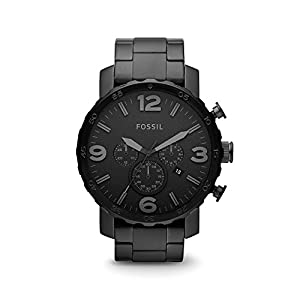 Fossil Men's Nate Blacktone Bracelet and Dial Watch