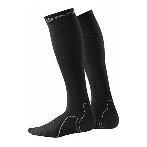 SKINS Essentials Recovery Compression Socks, Black, - Unisex Recovery Zoot
