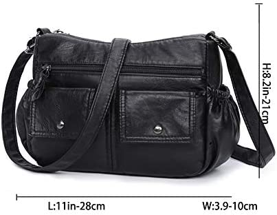 MINTEGRA Crossbody Bags for Women Soft PU Leather Purses Pocketbooks Multi Pocket Shoulder Bag Handbag