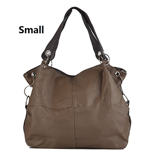 Leather Handbag PU Shoulder Small Grafting Special Women Crossbody dark Women Offer Bags Messenger khaki Bag Splice Vintage Bags HUAIwxd