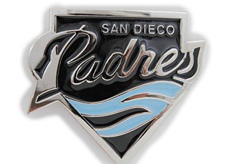 TFJ Men Women Belt Buckle Fashion Silver Metal Sport Team Padres San Diego Baseball