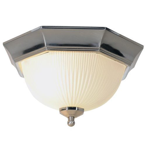 Monument 617030  Decorative Ceiling Fixture, Brushed Nickel, 11 In.