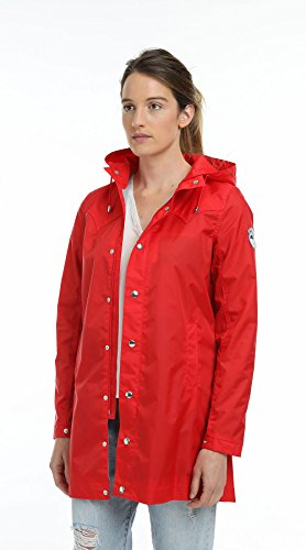 Beseason Candy Imperméable Femme Aw17 Raincoat Red Waterproof Parka Manteau zSAzZO