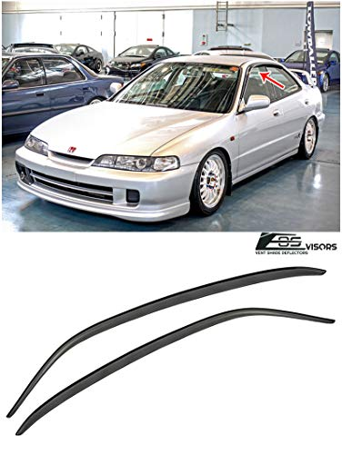 Extreme Online Store for 1994-2001 Acura Integra 4Dr Sedan | EOS Visors JDM Tape-On Style Smoke Tinted Side Window Vent Visors Rain Guard Deflectors JDM DB7 DB8