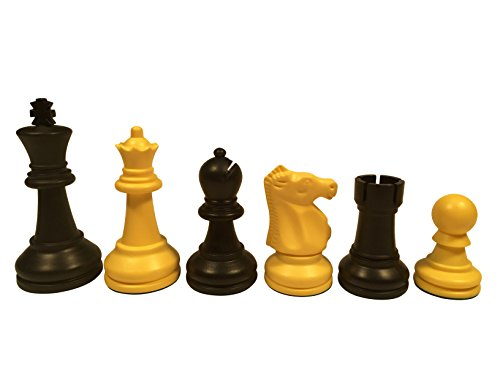- WE Games Ultimate Tournament Staunton Chessmen with 3.75 Inch King & Triple Weight over 3.9 lbs