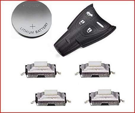C/áscara Control Remoto Llavero Casos Reemplazo 4 Bot/ón para SAAB 93 95 9-3 9-5