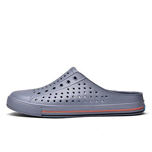 Unisex Slippers Gray Men's Quick OUYAJI Shoes Women's Garden Clog Drying Sandals dvEEP86n