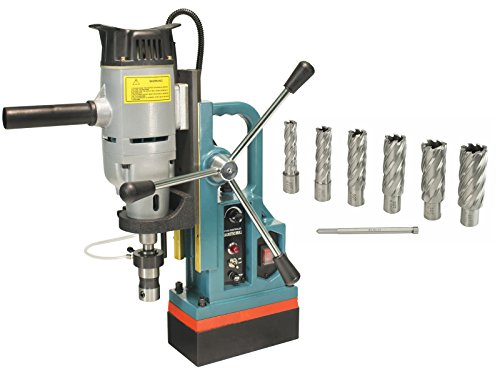 Steel Dragon Tools MD45 Magnetic Drill Press with 7PC 2'' HSS Annular Cutter Kit by Steel Dragon Tools