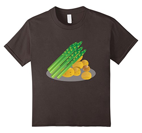 Kids Asparagus & Potatoes t-shirt Awesome Vegetable Dish Dinner 10 Asphalt
