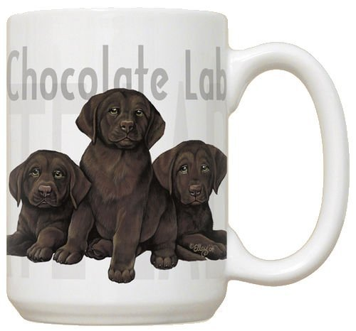 Chocolate Lab Puppy Puppies Dog Large 15oz Ceramic - Lab Mug Chocolate