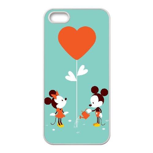 Mickey And Minnie 014 coque iPhone 4 4S Housse Blanc téléphone portable couverture de cas coque EOKXLKNBC26246