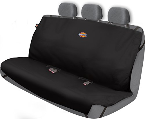 Fabric Rear Bench Jeep Seat - Dickies 3000721 Heavy Duty Rear Bench Seat Protector, Black