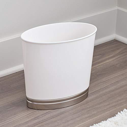 Interdesign Basket Trash Bathroom Kitchen Office White