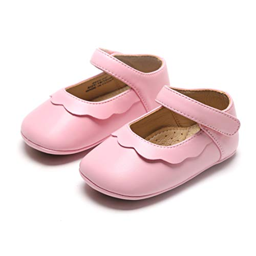Bear Mall Infant Baby Girl Shoes Soft Sole Toddler Ballet Flats Baby Walking Shoes (18-24 Months-5 1/8 Inch, Pink)