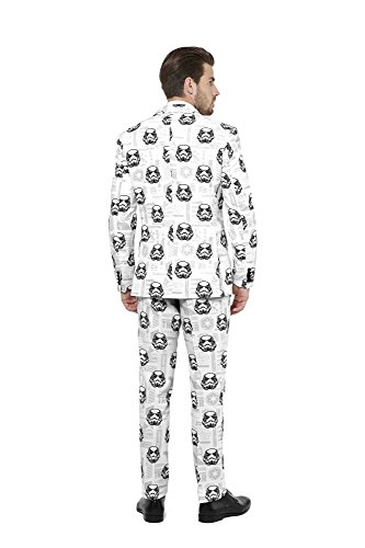 OppoSuits Mens 'Stormtrooper' Party Suit and Tie by, 38 by Opposuits (Image #2)