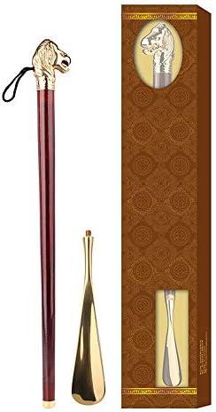 シューホーン 金属ロングシューホーン合金めっき銅ヘッド取り外し可能なアセンブリ57/61センチメートル非常に便利なガジェット 便利で耐久性のある (色 : 褐色, Size : 61cm)