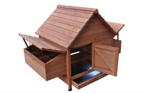 Ardinbir 62'' Deluxe Huge Solid Wood Chicken Coop / Hen House Duck Poultry Rabbit Hutch Cage with 6 Nesting boxes by Ardinbir (Image #5)