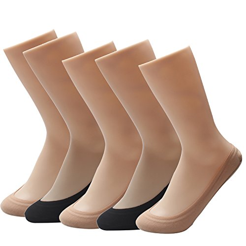 Max 90 Tabs - TopBine 5 Pairs Women No Show Cotton sock liners , Hidden Socks ,Low Cut Liner socks with Gel Tab (max color)