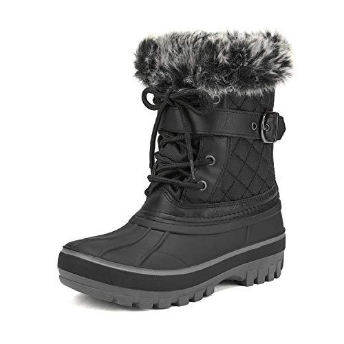 DREAM PAIRS Boys Girls Mid Calf Winter Snow Boots(Toddler/Little Kid/Big Kid)