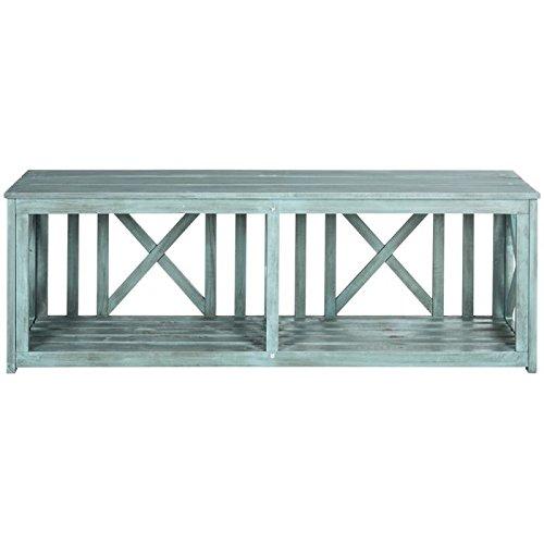 Outdoor Beach House Collection (Safavieh Outdoor Collection Branco Beach House Blue Bench)