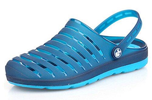 Fansela(TM) Unisex Couples Nest Jelly TPU Sandals Shoes mDark Blue Size 10 by Fansela (Image #1)