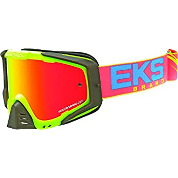 07b9d735090 EKS Brand EKS-S Outrigger Adult Dirt Bike Motorcycle Goggles Eyewear - Flo  Yellow Cyan Fire One Size Fits All