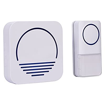Wireless Doorbell System, Enjoy a Remote Doorbell w/ Wireless Plugin Doorbell Kit, LED Light & 50+ Chimes, Choose Your Sound w/ Great Vibez Modern Wireless Doorbell!