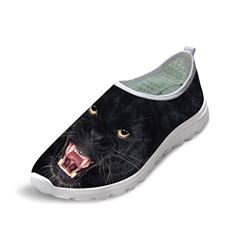 HUGS IDEA Animals Pattern Mens Lightweight Aqua Water Shoes Stylish Beach Sneakers Panther 29Cc3BiiL