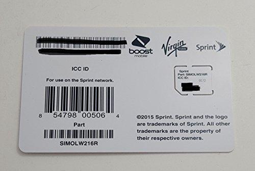 Sprint UICC ICC Micro SIM Card SIMOLW216R – Samsung Galaxy S4, S5, S5 Sport, Note 3, Note 4