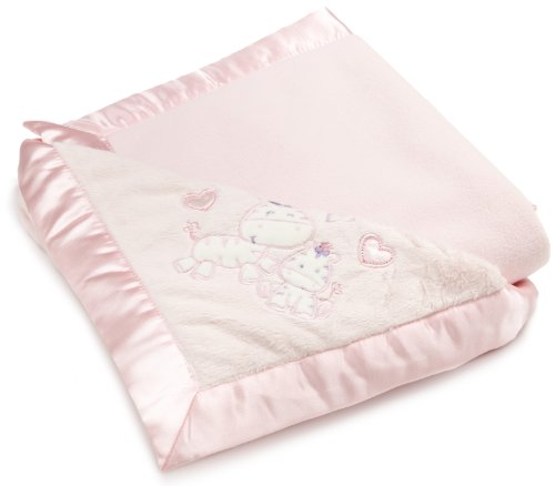 Vitamins Baby-girls Newborn Mommy Loves Me Satin Trim Superplush Blanket