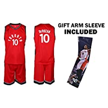 Fan Kitbag Toronto Raptors DeRozan Jersey Kids Basketball Red DeRozan Jersey & Shorts Youth Gift Set ✓ Basketball Compression Shooter Arm Sleeve ✓ Premium Quality