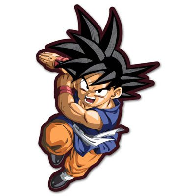 "Dragon Ball Goku manga anime vynil car sticker 3"" x 5"""