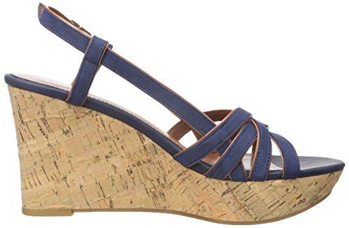 Lauren Af ralph Lauren Kvinders Quaylin Kile Sandal Moderne Flåde Polo Tan Elko Nubuck 46S00PgDwg