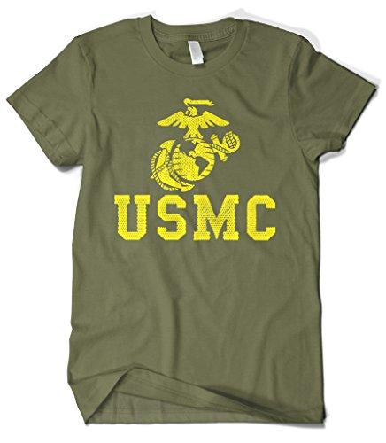 (Cybertela Men's United States Marine Corps USMC T-Shirt (Olive Green, 4X-Large))