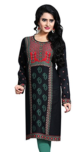 Indian Tunic Top Womens Kurti Printed Blouse India Clothing – Small, L 104
