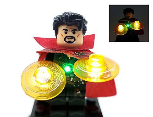BlingBlingBrick Marvel Avengers Endgame Super Heroes - Handmade LED Light Up Dr Strange Minifigure (76108)
