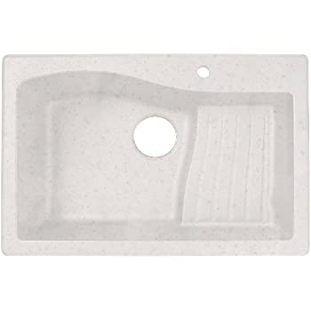 Swanstone Granite Kitchen Sink, QZAD 3322.075 Bianca, Drop In Ascend Bowl.