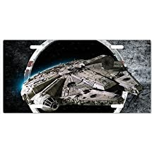 Star Wars Millennium Falcon Vanity License Plate Vanity License Plate