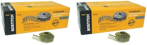 Bostitch CR3DGAL 1-1//4-Inch Smooth Shank 15 Inch Coil Roofing Nails 7,200-Qty
