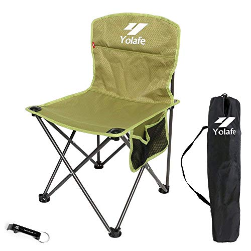 (Small Camping Chair Lightweight Portable Folding Stool with Carry Bag for Mountaineering Adventure Hiking Fishing Beach Picnic Party Gardening )