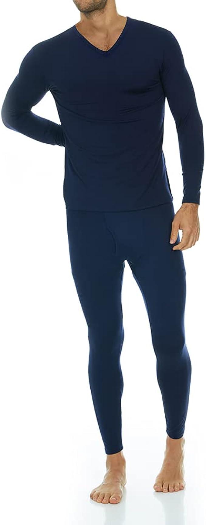N002 Men/'s Ultra Soft winter inner wear Thermal underwear Long johns with double