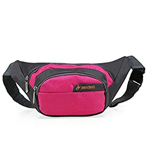 OpetHome Outdoor Sports Multi-purpose Dumpling Shaped Waist Fanny Pack Pink